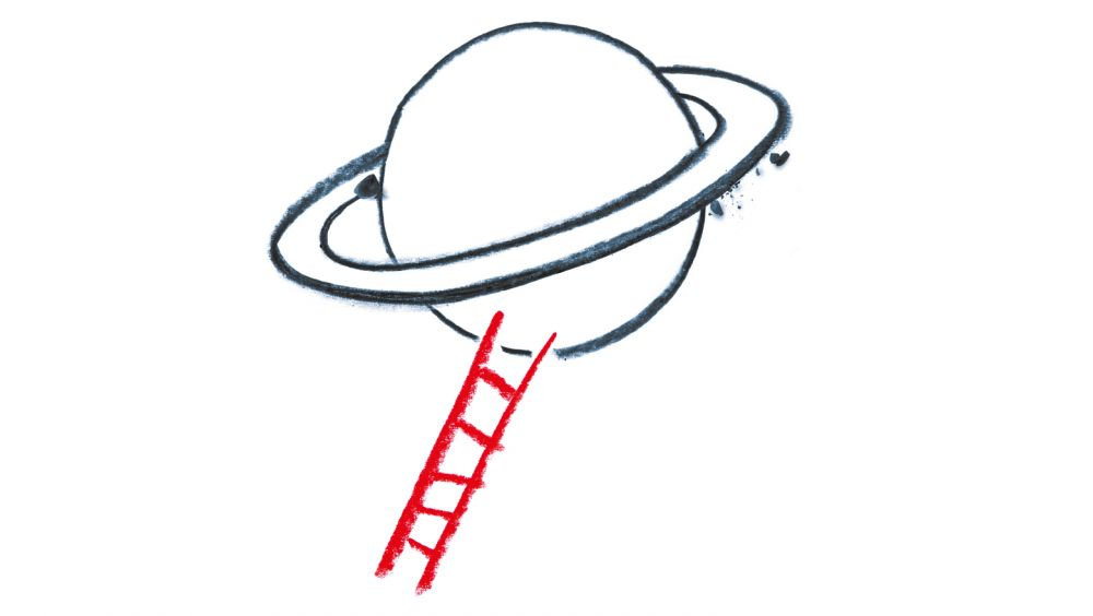 Saturn mit Leiter
